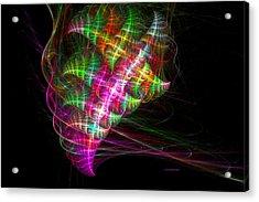 Vibrant Energy Swirls Acrylic Print