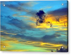 Vibrant Evening Sky Acrylic Print by Rose  Hill