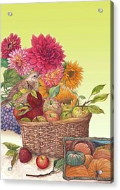 Vibrant Fall Florals And Harvest Acrylic Print