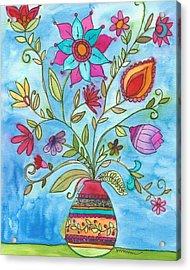 Vibrant Floral Acrylic Print