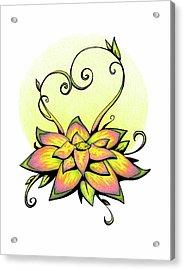 Vibrant Flower 8 Acrylic Print