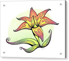 Vibrant Flower 4 Tiger Lily Acrylic Print