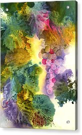 Vibrant Grapes Acrylic Print by Gladys Folkers