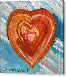 Acrylic Print featuring the painting Vibrant Heart by John Williams