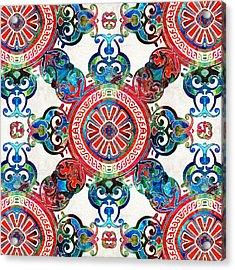 Vibrant Pattern Art - Color Fusion Design 4 By Sharon Cummings Acrylic Print