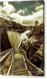Vibrant River Dam Acrylic Print