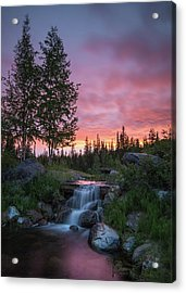 Vibrant Sky // Whitefish, Montana  Acrylic Print