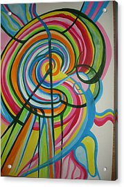 Acrylic Print featuring the painting Vibrant Spirals by Erika Swartzkopf