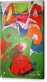 Vibrant Strength Acrylic Print by Laurie Wynne Weber