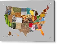 Vibrant Textures Of The United States Acrylic Print by Design Turnpike