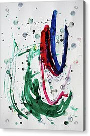 Acrylic Print featuring the painting Vibrant by Tom Druin