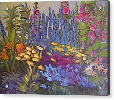 Vic Park Garden Acrylic Print by Carol Hama Chang