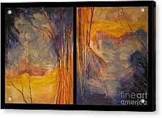 Acrylic Print featuring the painting Vice Versa Dyptich by Debora Cardaci