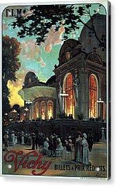 Vichy, France - Billets A Prix Reduits - Retro Travel Poster - Vintage Poster Acrylic Print