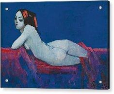 Vicky Acrylic Print by Endre Roder