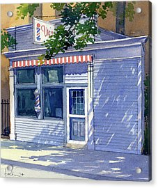 Vic's Barbershop Acrylic Print