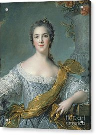 Victoire De France At Fontevrault Acrylic Print by Jean Marc Nattier