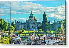 Victoria Bc Parliament Harbor Acrylic Print