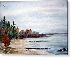 Victoria Beach In Manitoba Acrylic Print