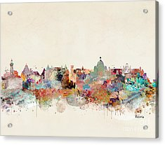 Acrylic Print featuring the painting Victoria Canada Skyline by Bri B