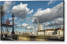Victoria Embankment Acrylic Print by Adrian Evans