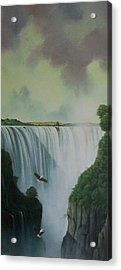 Victoria Falls Acrylic Print by Don Griffiths