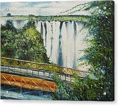 Victoria Falls Zimbabwe 2012 Acrylic Print by Enver Larney