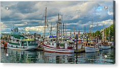 Victoria Harbor Boats Acrylic Print