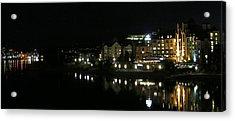 Victoria Harbor Night View Acrylic Print