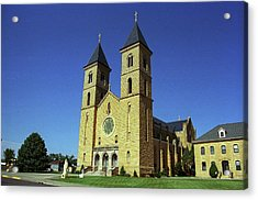 Acrylic Print featuring the photograph Victoria, Kansas - Cathedral Of The Plains 6 by Frank Romeo