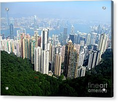 Acrylic Print featuring the photograph Victoria Peak 1 by Randall Weidner