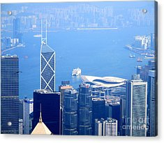 Acrylic Print featuring the photograph Victoria Peak 2 by Randall Weidner