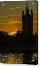 Victoria Tower In London Golden Hour Acrylic Print
