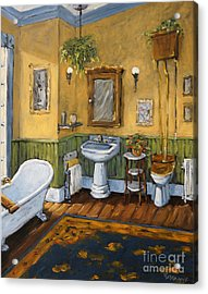 Victorian Bathroom By Prankearts Acrylic Print by Richard T Pranke