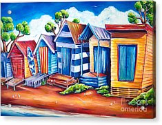 Victorian Beach Huts Acrylic Print