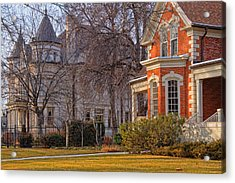 Victorian Era Houses Acrylic Print by Utah Images
