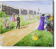 Victorian Filey Acrylic Print by Svetlana Sewell