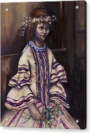 Victorian Girl Acrylic Print by Victoria  Shea