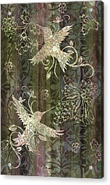 Victorian Hummingbird Green Acrylic Print by JQ Licensing