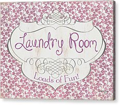 Victorian Laundry Room Acrylic Print by Debbie DeWitt