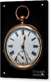 Victorian Pocket Watch Acrylic Print by Adrian Evans
