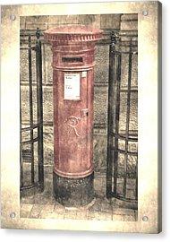 Victorian Red Post Box Acrylic Print