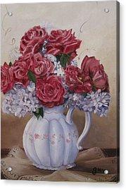 Victorian Rose Acrylic Print by Gloria Condon