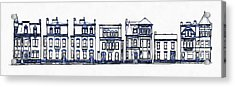 Victorian Row Houses Acrylic Print by Edward Fielding