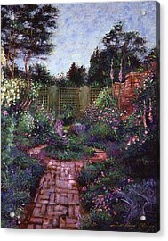 Victorian Secret Garden Acrylic Print by David Lloyd Glover