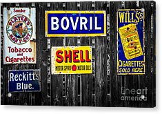 Victorian Signs Acrylic Print by Adrian Evans