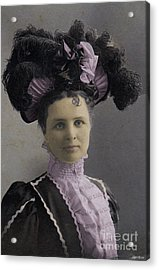 Acrylic Print featuring the photograph Victorian Women With Big Hat by Lyric Lucas