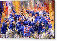 Victory At Last - Cubs 2016 World Series Champions Acrylic Print