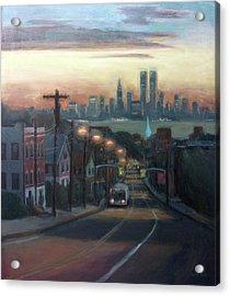 Victory Boulevard At Dawn Acrylic Print