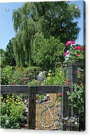 Victory Garden Lot And Willow Tree, Boston, Massachusetts  -30958 Acrylic Print